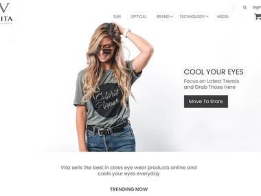 Online Eye Care Shop UI