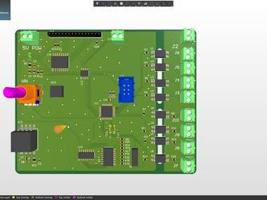 Atmega + optocoupler + LCD18*4 + moudbus+I2C+Pressure sensor