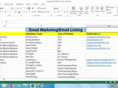 Email Marketing/Email Listing