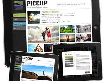 PICCUP-iPad Compatible website UX