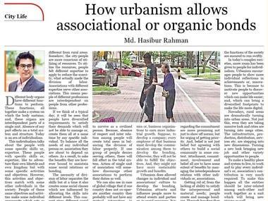 How urbanism allows associational or organic bond