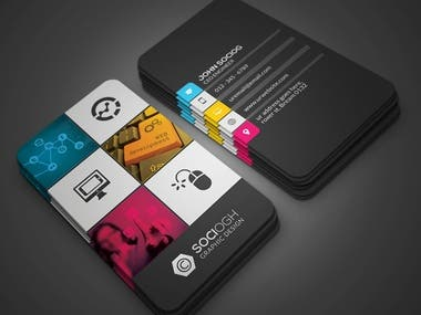 Design of business cards for companies or businesses