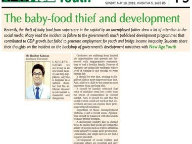 The baby food thief and development