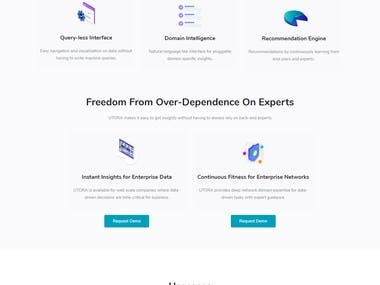 Website for Artificial Intelligence Company