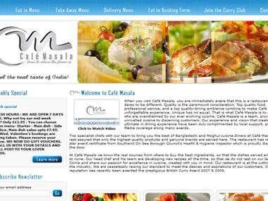 Website Design : www.thecafemasala.co.uk