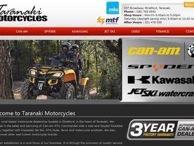 Website Design:- www.taranakimotorcycles.co.nz