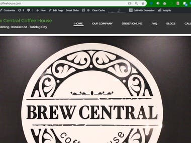 Brew Central Coffee House E-Commerce Website