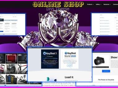 Online Shop(https://www.keyshot.com)