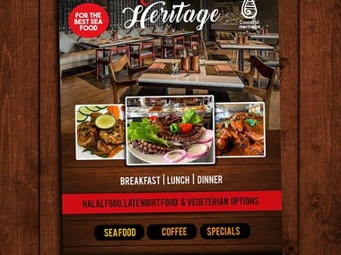 Restaurant Advert Design