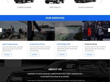 Airport Limo is a Word Press, Ajax and PHP based Website