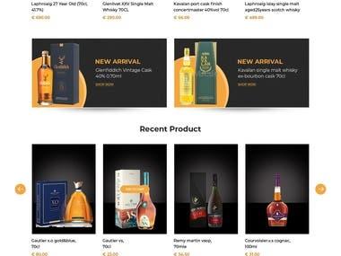 Word Press Woo Commerce Site For Liquor