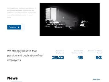 Word Press based Website