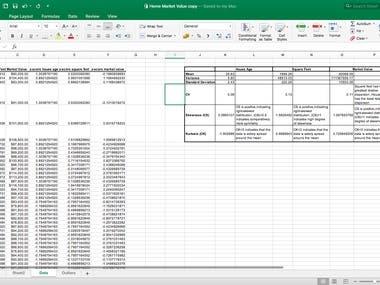 Analysing Data using Excel