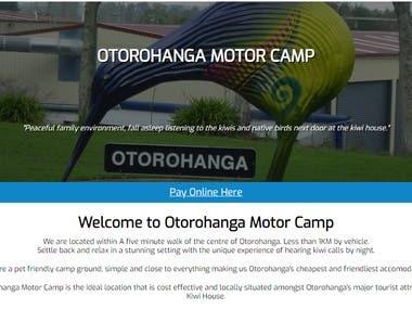 Otorohanga Motor Camp Website