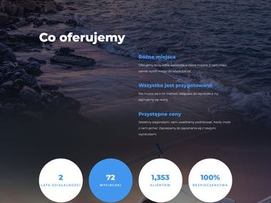Deployment and modification of Wordpress Theme.
