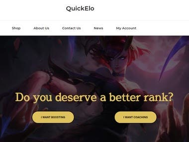 League of Legends Boosting Website