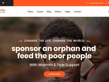 charity website create by niloy dey sarkar