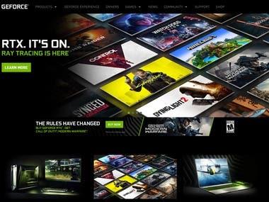 Gaming Site (React + Laravel)