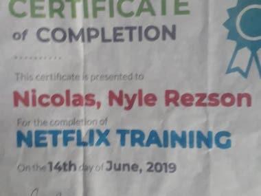 My Netflix Certificate
