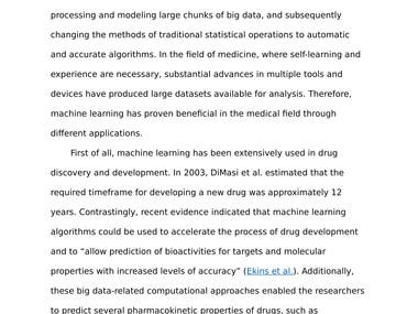 Academic Essay -The Medical Applications of Machine Learning