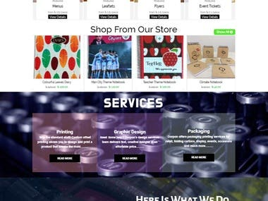 E-commerce and Printing/Packaging Service Business Website