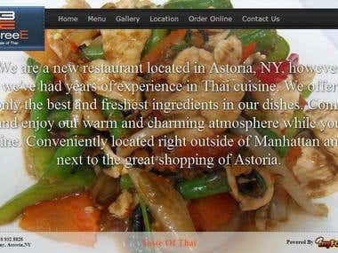 Restaurant's Website