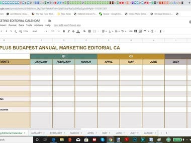 ANNUAL CONTENT CALENDAR OVERVIEW