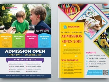 FLYERS AND BROCHURES DESIGNS BY THE DEVELOPERS