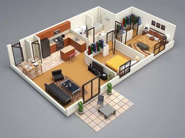 INTERIOR AND FLOOR DESIGN BY THE DEVELOPERS