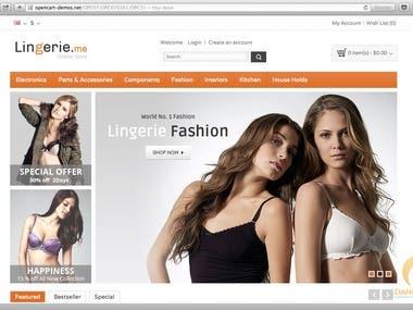 Fashion site (angular + CI)