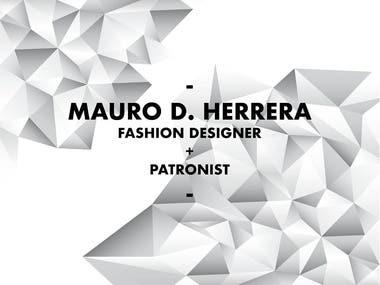 PORTFOLIO Mauro Herrera-FASHION DESIGNER-PATRONIST