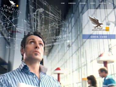 American Arab University Website Project
