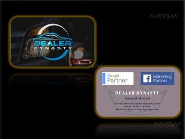 Business Card Design for Dealer Dynasty