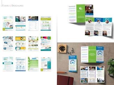 Flyer, leaflet, brochure and trifold design