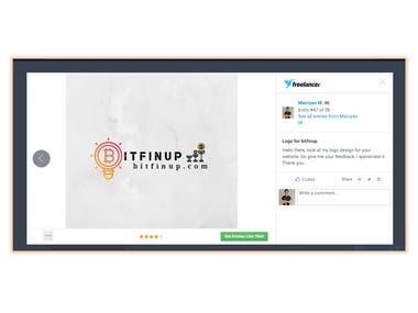 A logo for bitfinup.com