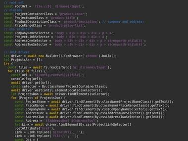 Selenium with node.js example