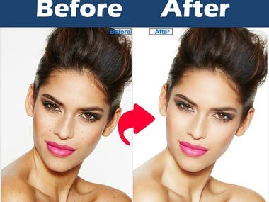 Glamour photo retouch