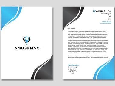 Letterhead for Amusemax