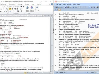 Conversion of Image Data into MS Word Doc.