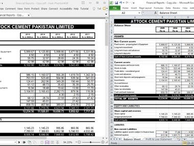 Conversion of pdf file into MS Excel