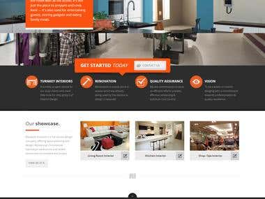 Interior Designer's website