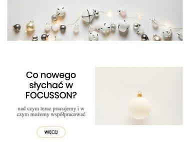 FOCUSSON - Christmas newsletter