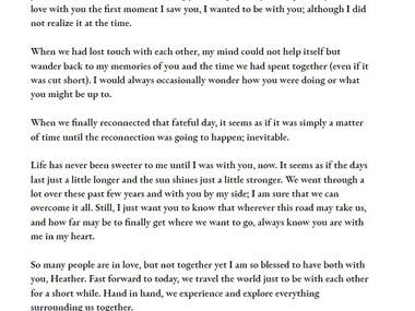 Love letter to long lost love