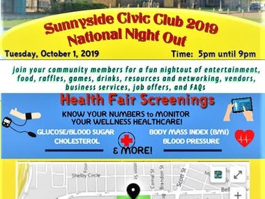 Community Civic Club Meeting Announcement Flyer/Poster