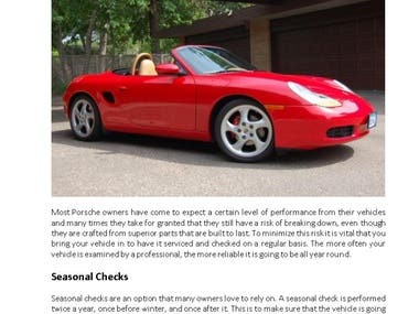 Keep Your Porsche Running Strong With Regular Checkups
