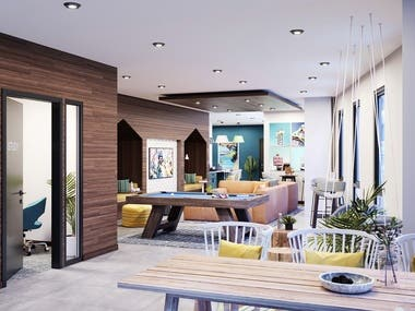 INTERIOR RENDER - CLUBROOM