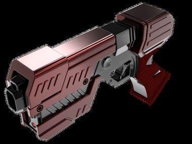 Laser toy gun 3D model