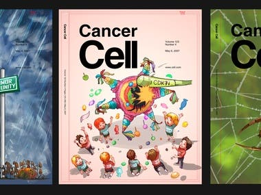 Cancer Cell Magazine Cover Designs