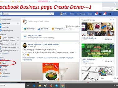 open a facebook Business page)+manage