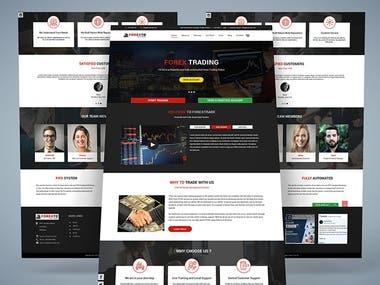 Single Page Web Template Design